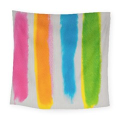 Watercolors Stripes            Fleece Blanket by LalyLauraFLM
