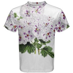 Flower Plant Blossom Bloom Vintage Men s Cotton Tee by Nexatart