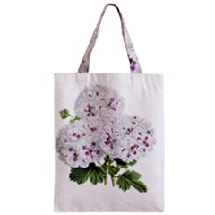 Flower Plant Blossom Bloom Vintage Zipper Classic Tote Bag