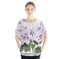 Flower Plant Blossom Bloom Vintage Blouse by Nexatart