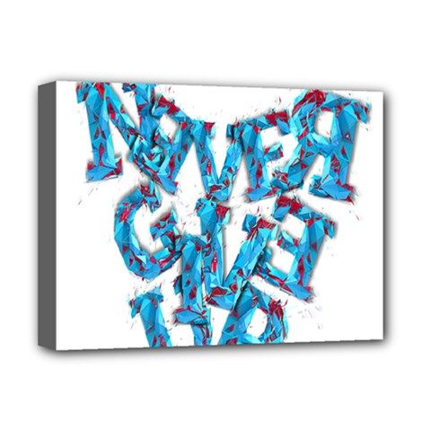 Sport Crossfit Fitness Gym Never Give Up Deluxe Canvas 16  X 12   by Nexatart