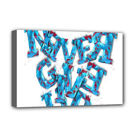 Sport Crossfit Fitness Gym Never Give Up Deluxe Canvas 18  X 12   by Nexatart