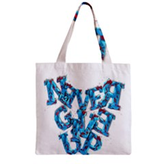 Sport Crossfit Fitness Gym Never Give Up Zipper Grocery Tote Bag by Nexatart