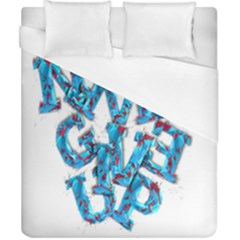 Sport Crossfit Fitness Gym Never Give Up Duvet Cover (california King Size) by Nexatart
