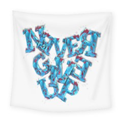 Sport Crossfit Fitness Gym Never Give Up Square Tapestry (large) by Nexatart