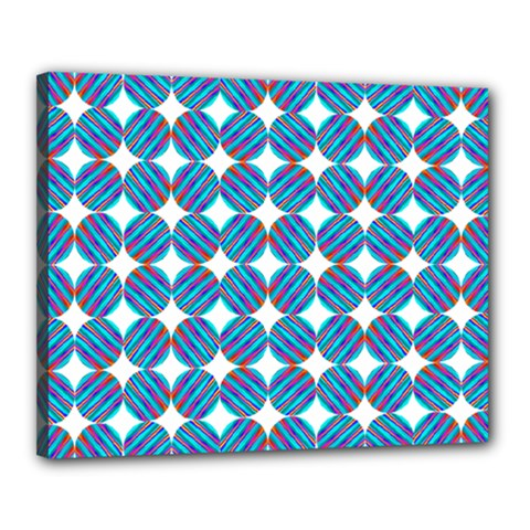Geometric Dots Pattern Rainbow Canvas 20  X 16  by Nexatart
