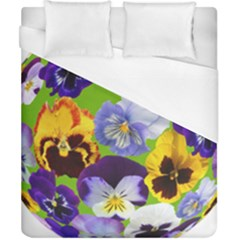 Spring Pansy Blossom Bloom Plant Duvet Cover (california King Size) by Nexatart