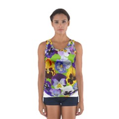 Spring Pansy Blossom Bloom Plant Women s Sport Tank Top