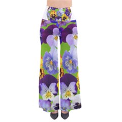 Spring Pansy Blossom Bloom Plant Pants by Nexatart