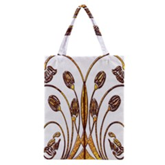 Scroll Gold Floral Design Classic Tote Bag by Nexatart