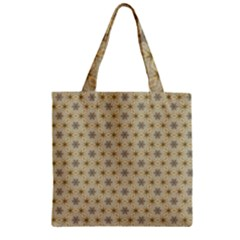 Star Basket Pattern Basket Pattern Zipper Grocery Tote Bag by Nexatart