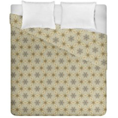 Star Basket Pattern Basket Pattern Duvet Cover Double Side (california King Size) by Nexatart