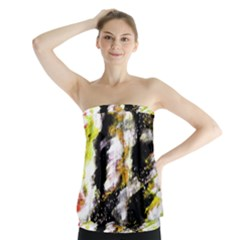 Canvas Acrylic Digital Design Strapless Top by Nexatart