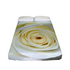 Flower White Rose Lying Fitted Sheet (full/ Double Size)