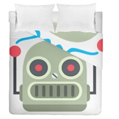 Robot Duvet Cover Double Side (queen Size) by BestEmojis