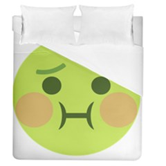 Barf Duvet Cover (queen Size) by BestEmojis