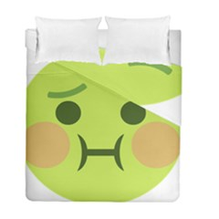 Barf Duvet Cover Double Side (full/ Double Size) by BestEmojis