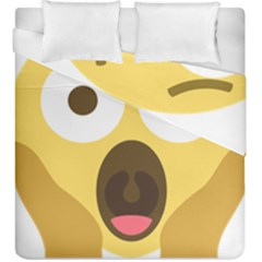 Scream Emoji Duvet Cover Double Side (king Size) by BestEmojis