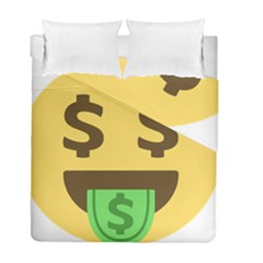 Money Face Emoji Duvet Cover Double Side (full/ Double Size) by BestEmojis