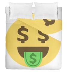 Money Face Emoji Duvet Cover Double Side (queen Size) by BestEmojis