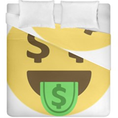 Money Face Emoji Duvet Cover Double Side (king Size) by BestEmojis