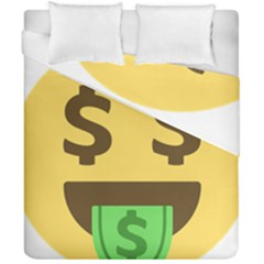 Money Face Emoji Duvet Cover Double Side (california King Size) by BestEmojis