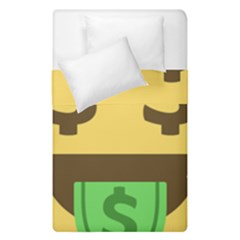 Money Face Emoji Duvet Cover Double Side (single Size) by BestEmojis