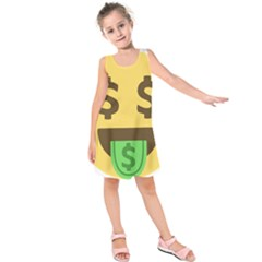 Money Face Emoji Kids  Sleeveless Dress by BestEmojis
