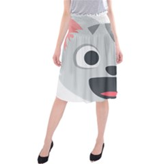 Cat Smile Midi Beach Skirt by BestEmojis