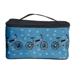 Bicycles Pattern Cosmetic Storage Case by linceazul