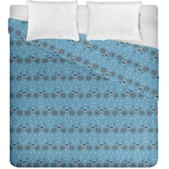 Bicycles Pattern Duvet Cover Double Side (king Size) by linceazul