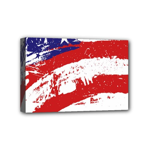 Red White Blue Star Flag Mini Canvas 6  X 4  by Mariart