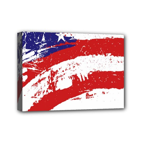 Red White Blue Star Flag Mini Canvas 7  X 5  by Mariart