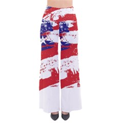 Red White Blue Star Flag Pants by Mariart