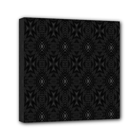 Star Black Mini Canvas 6  X 6  by Mariart