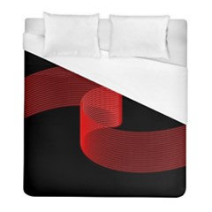 Tape Strip Red Black Amoled Wave Waves Chevron Duvet Cover (full/ Double Size) by Mariart