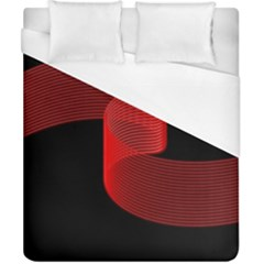 Tape Strip Red Black Amoled Wave Waves Chevron Duvet Cover (california King Size) by Mariart
