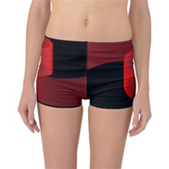 Tape Strip Red Black Amoled Wave Waves Chevron Reversible Bikini Bottoms by Mariart
