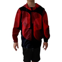 Tape Strip Red Black Amoled Wave Waves Chevron Hooded Wind Breaker (kids) by Mariart