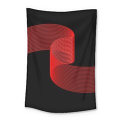 Tape Strip Red Black Amoled Wave Waves Chevron Small Tapestry by Mariart