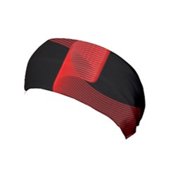 Tape Strip Red Black Amoled Wave Waves Chevron Yoga Headband by Mariart