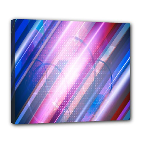 Widescreen Polka Star Space Polkadot Line Light Chevron Waves Circle Deluxe Canvas 24  X 20   by Mariart