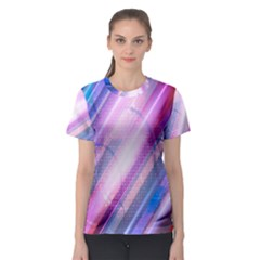 Widescreen Polka Star Space Polkadot Line Light Chevron Waves Circle Women s Sport Mesh Tee by Mariart