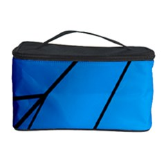 Technical Line Blue Black Cosmetic Storage Case by Mariart