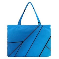 Technical Line Blue Black Medium Zipper Tote Bag by Mariart