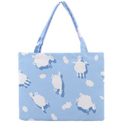 Vector Sheep Clouds Background Mini Tote Bag by Nexatart