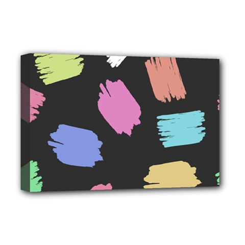 Many Colors Pattern Seamless Deluxe Canvas 18  X 12