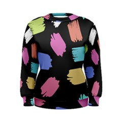Many Colors Pattern Seamless Women s Sweatshirt by Nexatart