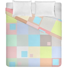 Pastel Diamonds Background Duvet Cover Double Side (california King Size) by Nexatart