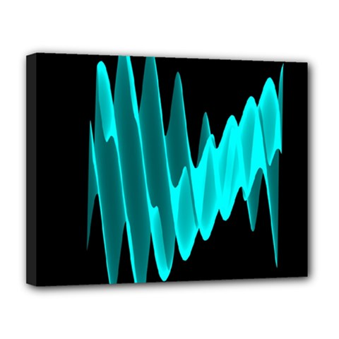 Wave Pattern Vector Design Canvas 14  X 11